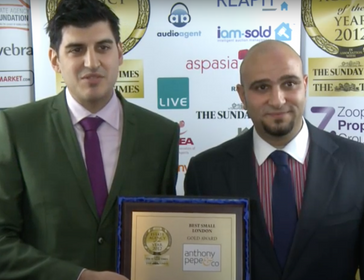 Best Small London Estate Agency 2012 - Anthony Pepe & Co - Anthony Pepe
